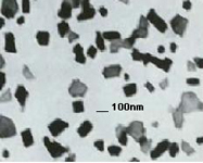 Zinc nanoparticles as seen by a transmission electron microscope